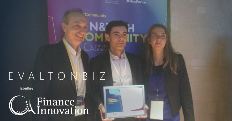 EVALTONBIZ reçoit le label FINANCE INNOVATION